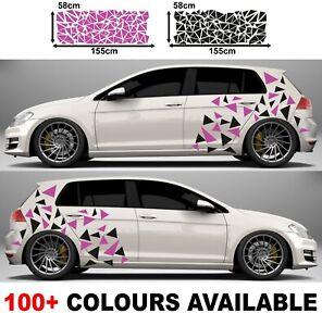 Voiture Camouflage Kit Triangle Panneau Latéral Porte Stickers Autocollants Feuilles 58x155cm Ebay
