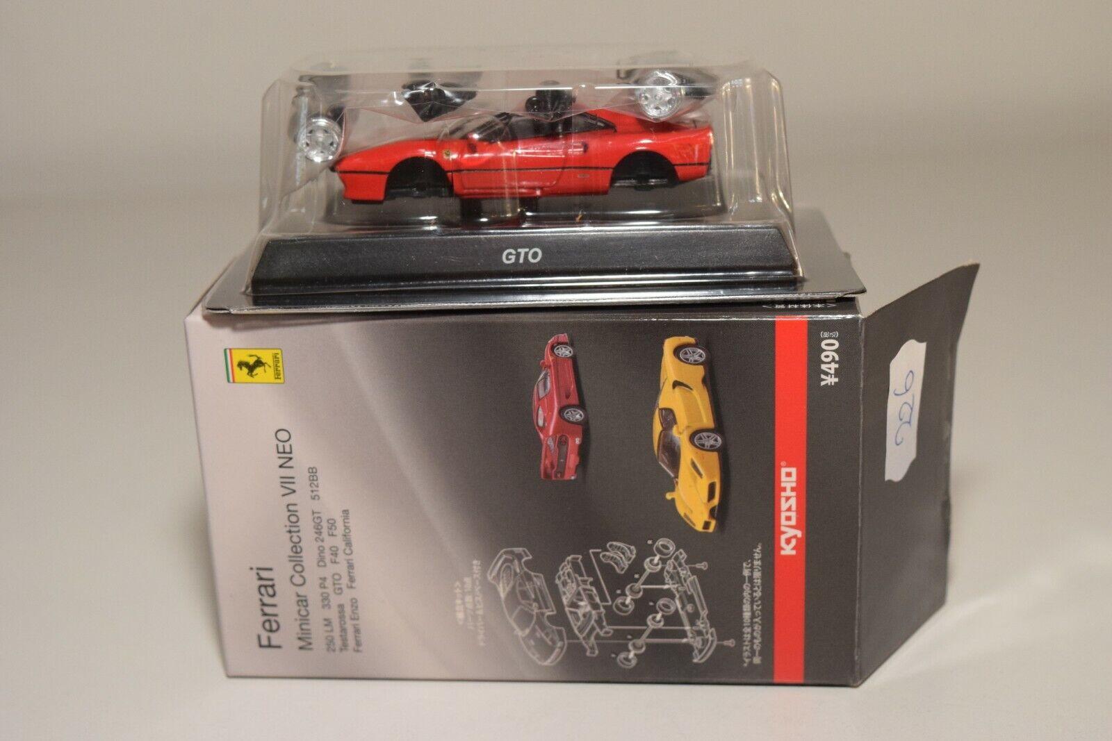 ventas en linea V 1 64 226 KYOSHO COLLECTION 7 7 7 NEO FERRARI GTO rojo MINT BOXED RARE SELTEN  gran descuento