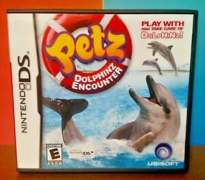 Petz-Dolphinz-Encounter-Nintendo-DS-DS-Lite-3DS-2DS-Game-Complete-Tested