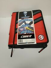 Case It Zipper Binder The Z Double 1 12 D Ring Binder Strap Handle Red 3