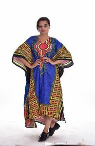 f14d11e084 New Woman Girl Kaftan 100% Cotton Tunic Top Plus Size multi color ...