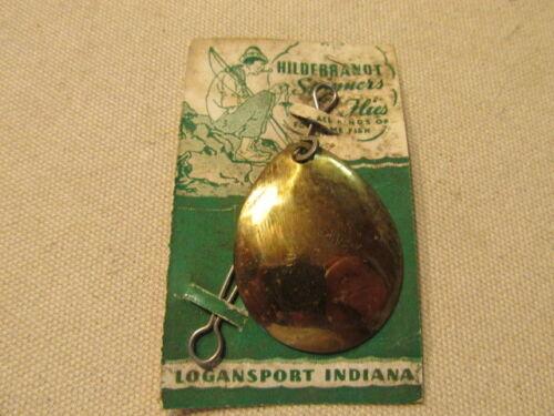 Vintage Hildebrant #61 Idaho Brass Spinner on Display Card Logansport IN Sk12