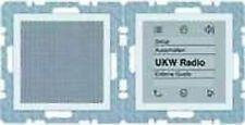 BERKER Radio Touch S1 polarweiß glänzend 28808989 up-Radiomodul+Lautsprecher