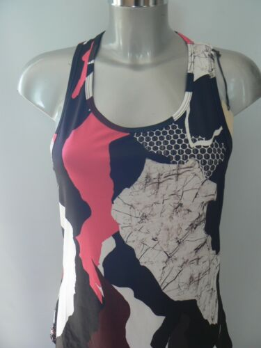 Medium NEW TAGS RIVER ISLAND Ri Active Printed Gym Vest Top Women/'s Small
