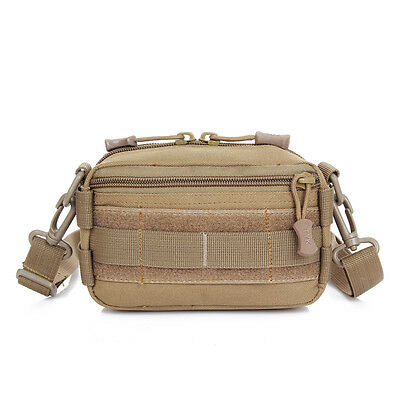 Brown Tactical Military Style Bag outdoor Waist Bag Travel Sport Rucksack Pack