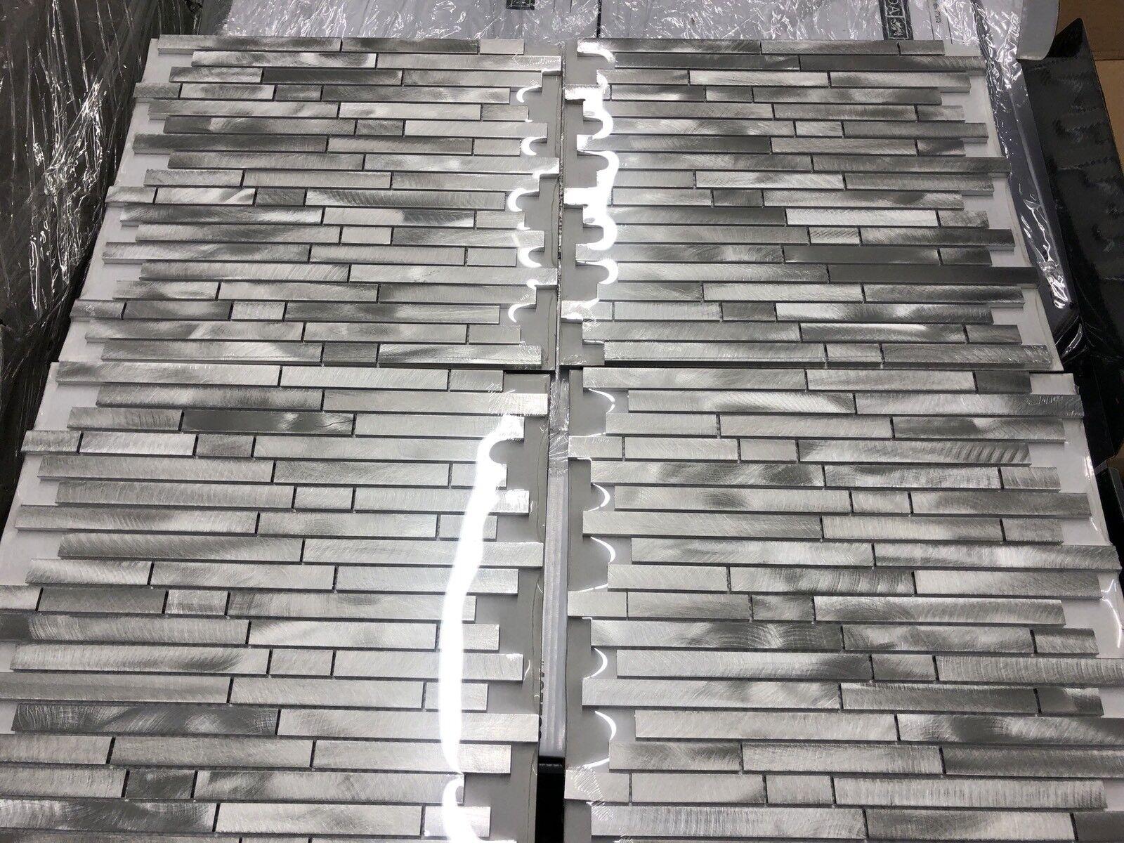 - Elida Ceramica Linear Mosaic Porcelain Wall Backsplash Tile 526266