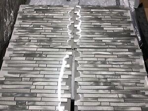 Image Is Loading Elida Ceramica Alumina Bars Linear Mosaic Metal Wall