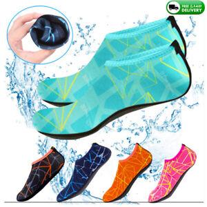 Womens Mens Water Shoes Aqua Socks Diving Socks Wetsuit Non-slip Swim Beach UK