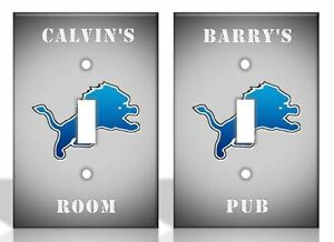 Personalized Detroit Lions Light Switch Covers Nfl