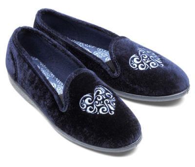 Freestep Ladies Slippers Mujer Low Top Tamaños Reino Unido 3 de abril Azul Marino Nuevo 7 8