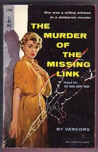 vercors the murder of the missing link 1958 htf vg pb ebay. Black Bedroom Furniture Sets. Home Design Ideas