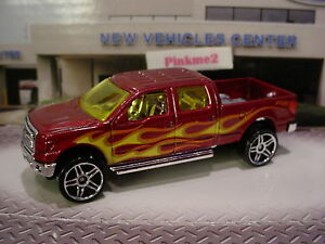 2016 HOT TRUCKS Design '09 FORD F-150 pickup truck☆Red;Flames☆LOOSE Hot Wheels