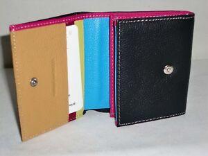 0cdf23323a559 Porte monnaie en cuir intérieur multicouleur réf 28630 (6 couleurs ...