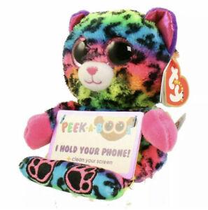 TY Beanie Babies Boo Peek A Boos LANCE the LEOPARD Phone Holder NWT 2016