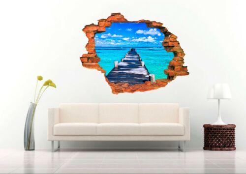 Dock 3D Wall Decal  Nursery Vinyl Decal Sticker