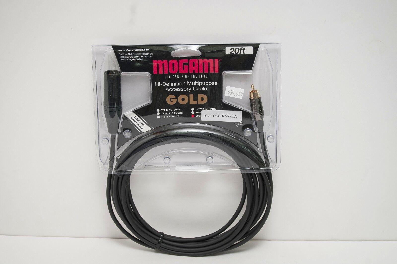 Mogami oroXLRMRCA oro 20 XLR macho a a a RCA 20'  hasta un 50% de descuento