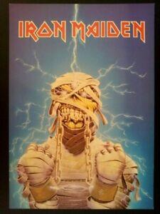 Iron-Maiden-Carte-Photo-42x30-cm-1986-Comme-neuve