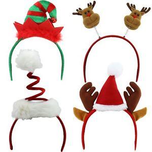 Image Is Loading CHRISTMAS HEAD BOPPERS XMAS PARTY DEELY HEADBAND SANTA