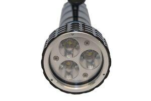 Hammer- LED Tauchlampe  3500 Lumen, 100%-50%-SOS, Gibielle, inkl. Handgriff