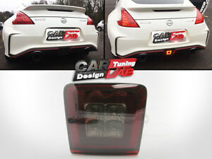 For 09-Up Nissan 370Z Z34 Rear Fog Light Tail Brake Lamps JDM Crystal Smoke Lens