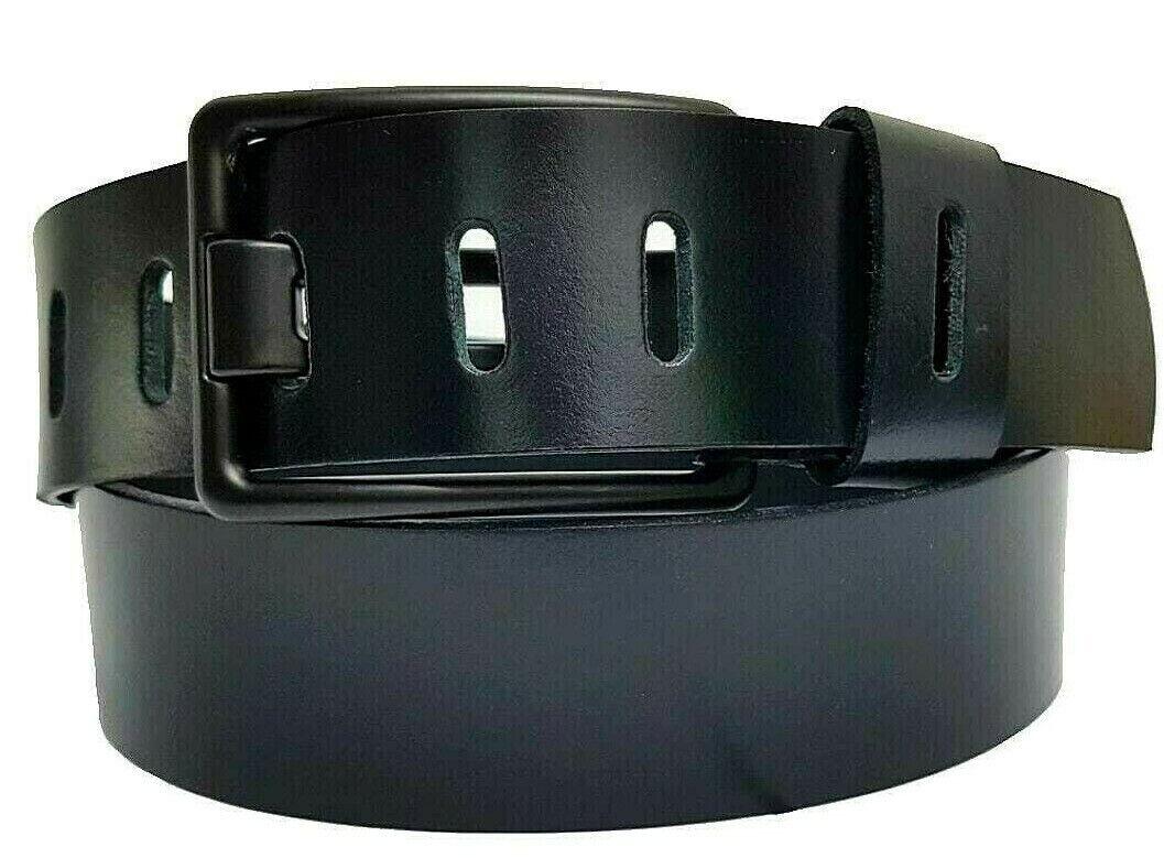 4,5 cm echt Büffelleder Gürtel Schwarz Braun Jeans Ledergürtel handmade belt NEU