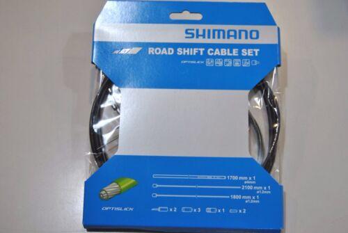 Kit Cavi e Guaina Cambio Shimano OPTISLICK Black//ROAD SHIFT CABLE SET SHIMANO