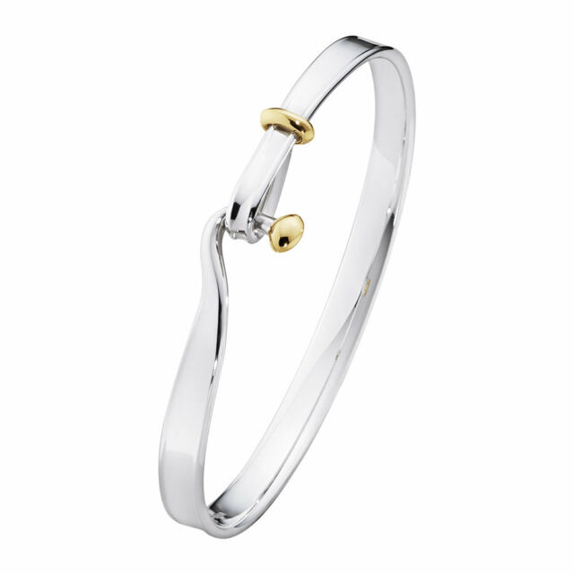 Georg Jensen Torun Bangle Xl With Yellow Gold Ref 3531282 Rrp