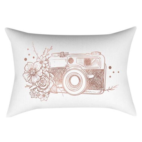 Rectangle Taie d/'oreiller à motifs géométriques Marble Print Sofa Throw Cushion Cover Home Decor