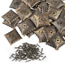 100pcs Vintage Bronze Furniture Upholstery Nails Tacks Studs Home Decor  21x21mm