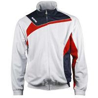 Errea Denver Mens Tracksuit Top Jacket Training Long Sleeve White Red Navy Black
