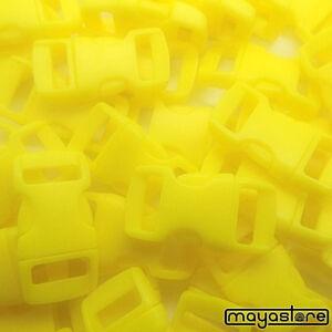 10mm-Boucle-jaune-courbe-boucle-bracelet-Bouchon-Cheville-fermeture-Click-Neuf
