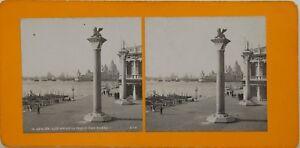Venezia Vista Prise Del Palais Dei Doge Italia Foto Stereo Vintage Analogica