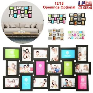 12/18 Picture Frame Photos Collage Aperture Memories Home Bedroom Display Decor