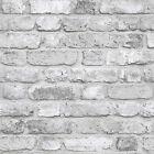 Vlies Tapete Bruchstein Mauer Klinker Ziegelstein creme grau weiß grau FC2503