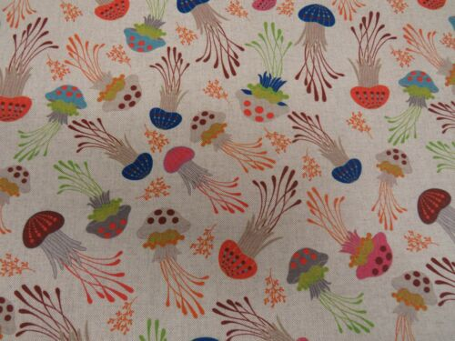 Curtain Upholstery Blinds Crafts Cushions Digital Printed Linen Cotton Fabric