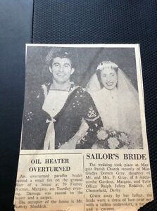 69-3-Ephemera-1958-Article-Wedding-Gladys-Fray-Margate-Ralph-Reddish-Chesterf