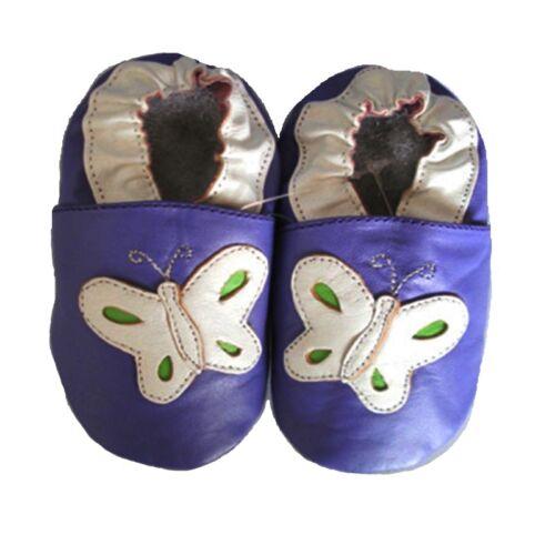 Lederpuschen Krabbelschuhe Lauflernschuhe Leder Babyschuhe Pantoffel