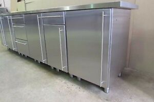 Image Is Loading Stainless Steel Kitchen Base Units Various Widths
