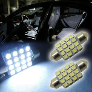 10Pcs-White-16-SMD-1-50-034-36mm-6418-C5W-LED-Bulbs-For-Car-License-Plate-Light