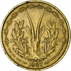 771974-Coin-French-West-Africa-25-Francs-1957-EF-40-45-Aluminum-Bronze