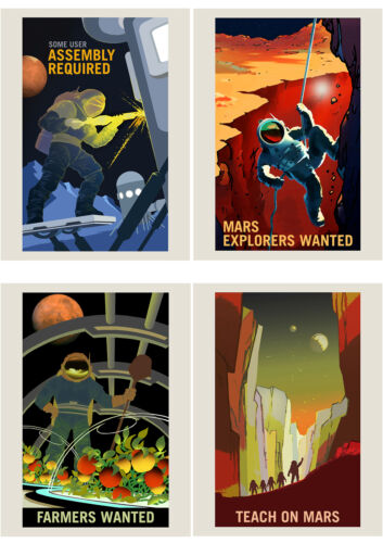 NASA POSTER SPACE EXPLORATION JOB ADVERT PACK x 8  POSTERS ART PRINTS HP3843