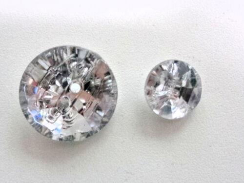 2 Knöpfe 21 mm EDEL kristal 13 mm Kunststoff