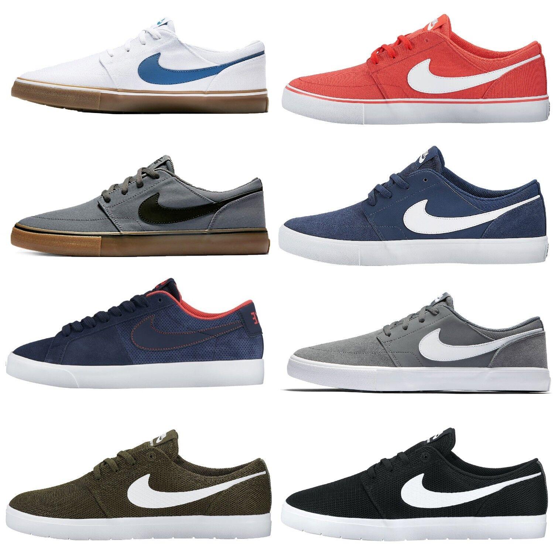 Nike sb blazer vapore / portmore ii cnvs solare pattinare scarpa formatori tessili