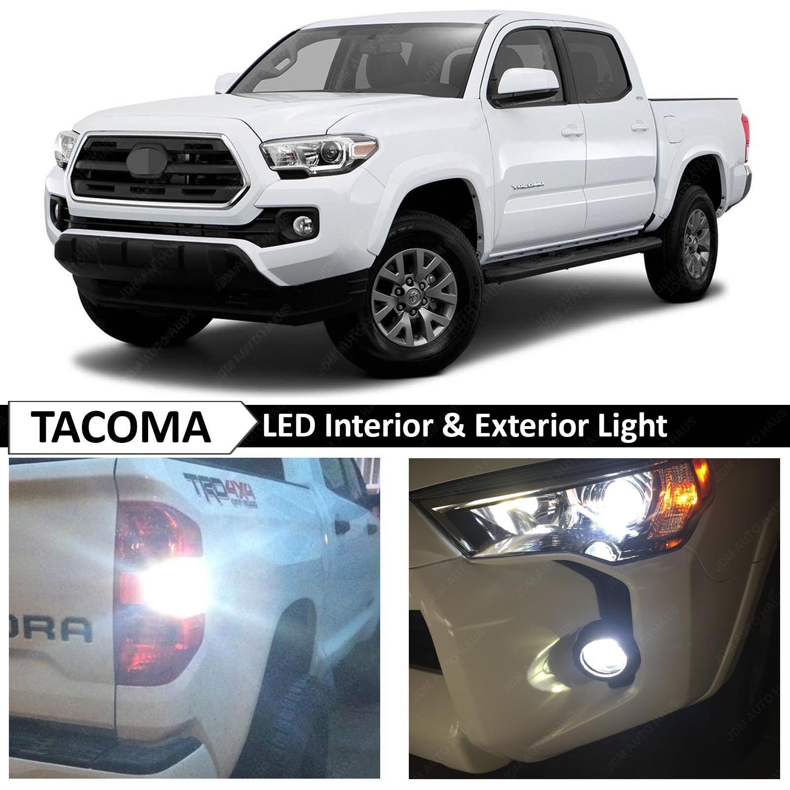 2016 toyota tacoma white exterior fog backup license plate. Black Bedroom Furniture Sets. Home Design Ideas