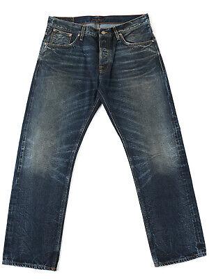 Kenntnisreich Nudie Herren Selvage-jeans | Regular Fit | Straight Alf Edgar Replica |uvp*299€ Mit Den Modernsten GeräTen Und Techniken