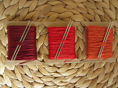 2 NEEDLES VERY STRONG 3//4mm THICK LEATHER SEWING THREAD  FOR HAND STITCHING