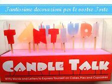 """CANDELE LETTERE """"TANTI AUGURI"""", Decorazione Torta, festa"""