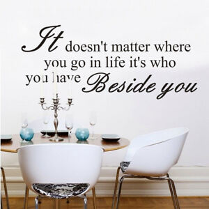 Image Is Loading Artistic Wall Stickers Vinyl Quotes Wall Decoration Decals