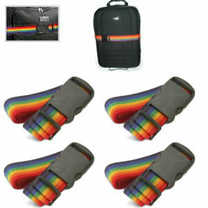 New-4-Travel-Luggage-Suitcase-Strap-Baggage-Backpack-Bag-Rainbow-Color-Belt