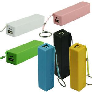 Powerbank-Akku-Extern-18650-USB-Ladegeraet-Universal-Smartphone-Power-Bank-6Farbe